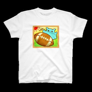 ひじりやノエルの楽しい♪ラグビーボール【水星人のスイスイちゃん】 T-shirts