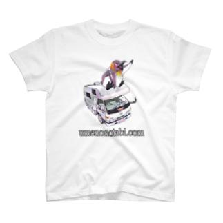 P&P(ぽっぽ&ペンギン)ノーマルプリントTシャツ T-shirts