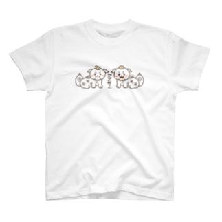 狛犬チャリダー両面プリント T-Shirt