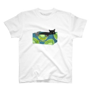段ボール黒ネコ T-shirts