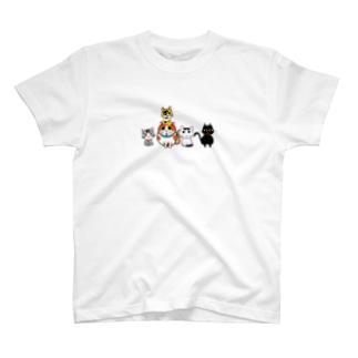 ゆずりんTVの5にゃんズ T-shirts