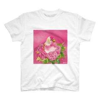 Rose〜ベニワヒワ T-shirts