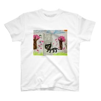 クロネコの大脱走 T-shirts