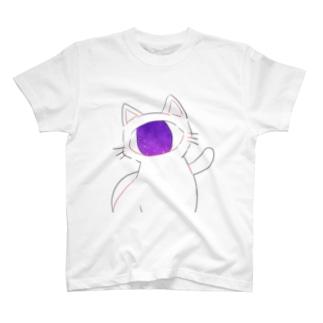 単眼うちゅうねこ T-shirts