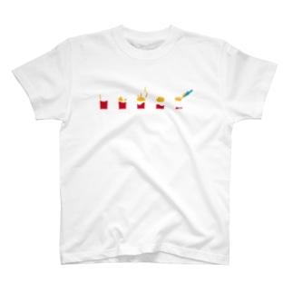 フライドポテト T-shirts