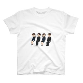 同じ顔の就活生 T-shirts