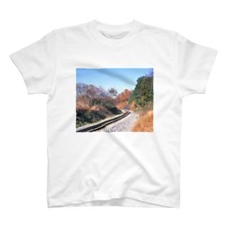 日本の鉄道:非電化区間の秋景色 Japanese rail: Non-electrified section T-shirts