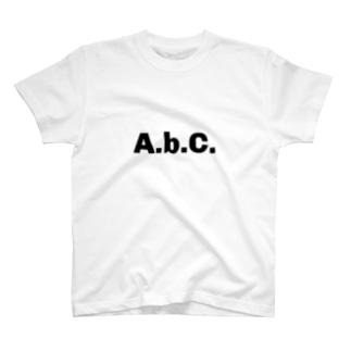 エービーシー(黒文字) T-shirts