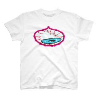目覚めの眼球ピンク T-shirts