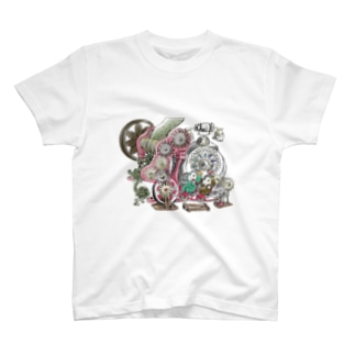 福くるくるサイクル仕掛けまんまちょん T-shirts