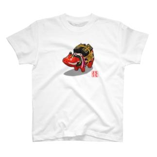 赤べこ 千両箱 T-shirts