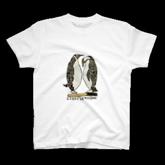 ツチダの仲良しペンギン T-shirts
