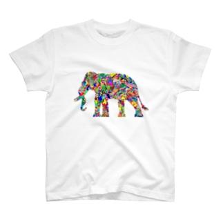 クロマチック柄A T-shirts