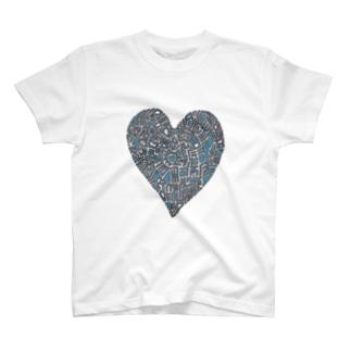 Blue  heart T-shirts
