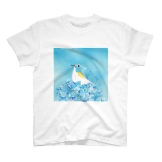 Sky〜ルリビタキ T-shirts