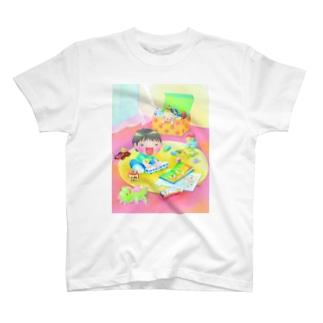 らせんゆむのらせんゆむの ぼくのすきなもの T-shirts