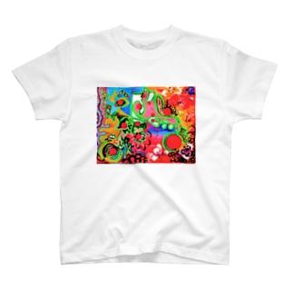 多肉植物さんのあたたかな秋の日 T-shirts