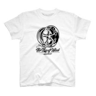 ホイールデザイン(V) T-shirts