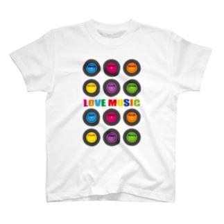 LOVE MUSIC T-shirts