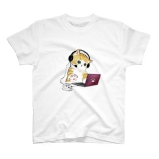 在宅勤務のプロ、その名は猫。 T-shirts