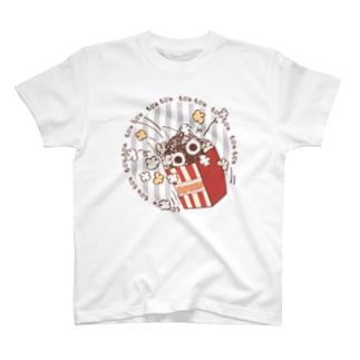 CT92 もじゃもじゃ★ぱっふんのポップコーン T-shirts