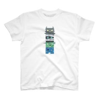 西の妖怪トーテムポール T-shirts