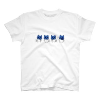 スライドマスクにゃん T-shirts