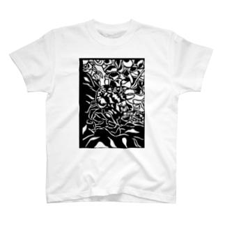 クモウツボ 切り絵 T-shirts