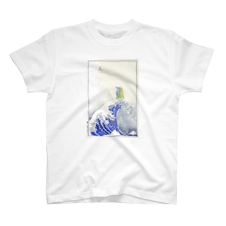 アマビエ✖️北斎パロ [神奈川沖浪裏] T-shirts