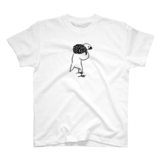 猫背のふろしき文鳥 T-shirts