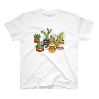 レトロサボテン缶 T-Shirt