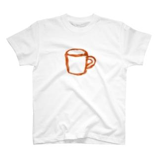 コップ 橙 T-shirts