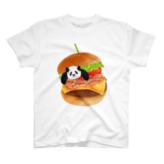 パンダとハンバーガー T-shirts