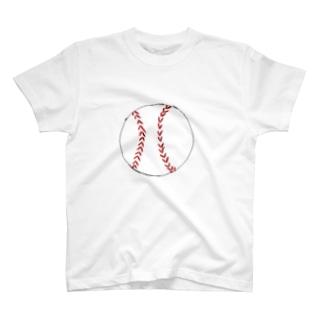 野球ボール T-shirts