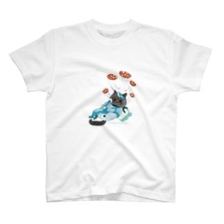 ネコノコシカケとカイくん T-shirts