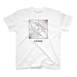 折り紙(鶴) T-shirts