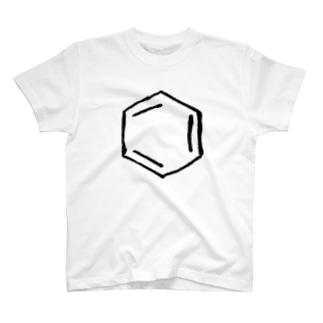 手書きベンゼン環 T-shirts