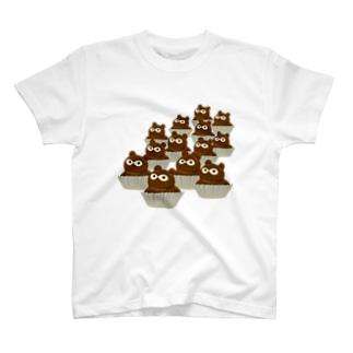 たぬきケーキいっぱい T-shirts