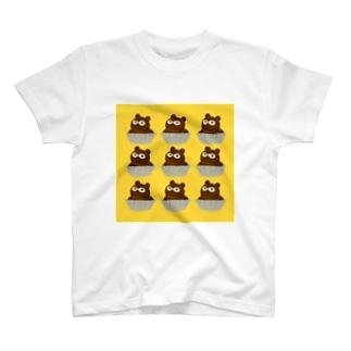 たぬきケーキここのつ T-shirts