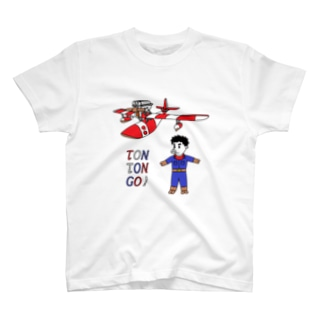豚人イラストのパンダ武島の豚々号(とんとんごう)で行こう! T-shirts
