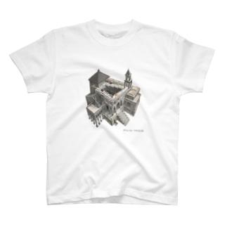 名画を楽しむてんとう虫~無限に登れる絵画~ T-Shirt