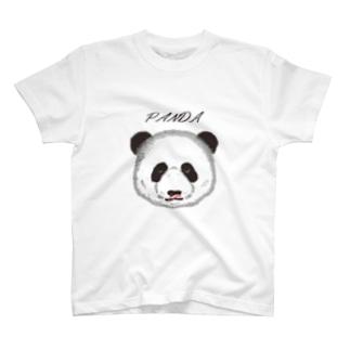 食いしん坊リアルパンダプレーン T-Shirt