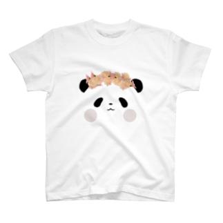 【SUZURI限定】Flower PANDA DA DA T-Shirt