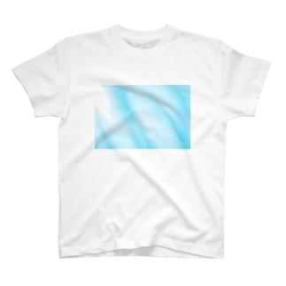 水色マーブル T-shirts