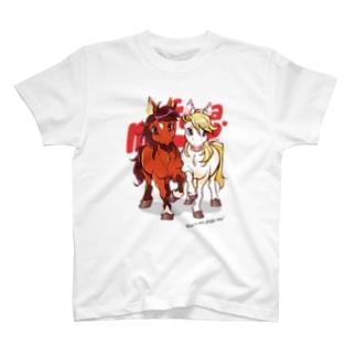 PONY FRIENDS(white) T-shirts