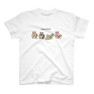 クルトンfriends【白フチなし】 T-shirts