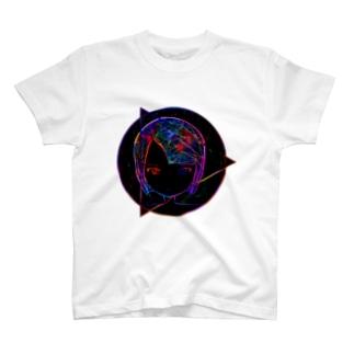 宇宙ガール まっくろ T-shirts
