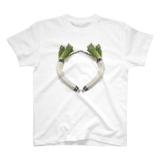 ドット絵曲がりネギ T-Shirt