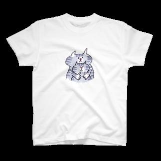 ゆきんこのしましまネコの親子 T-shirts