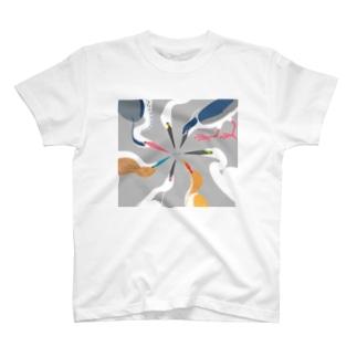 鷺の婚姻色パレット T-shirts
